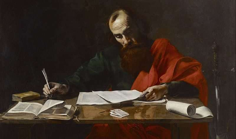 Paul writing his Epistles